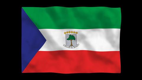 Flag A100 GNQ Equatorial Guinea Stock Video Footage
