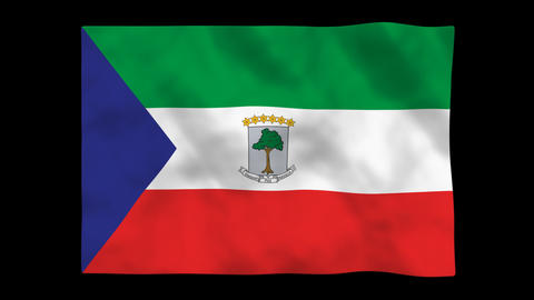 Flag A100 GNQ Equatorial Guinea Animation