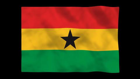Flag A104 GHA Ghana Animation