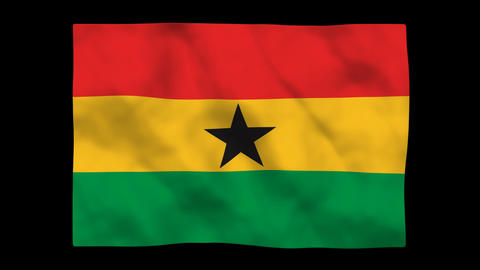 Flag A104 GHA Ghana Stock Video Footage