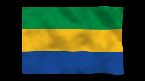 Flag A108 GAB Gabon Animation