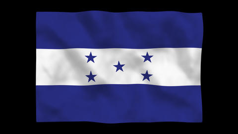 Flag A110 HND Honduras Stock Video Footage