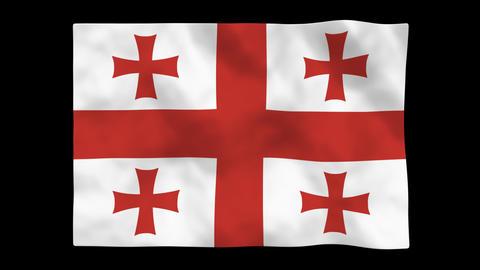 Flag A114 GEO Georgia Animation