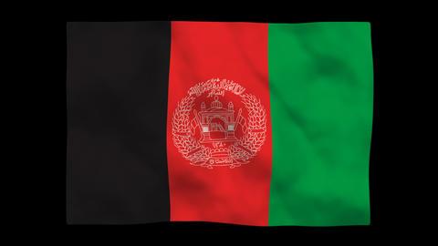 Flag A116 AFG Afghanistan Stock Video Footage
