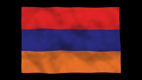 Flag A118 ARM Armenia Stock Video Footage