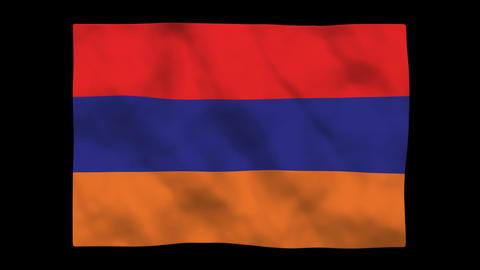 Flag A118 ARM Armenia Stock Video Footage