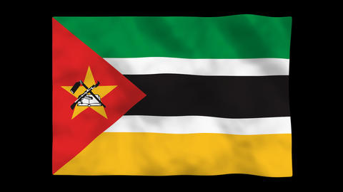 Flag A120 MOZ Mozambique Animation