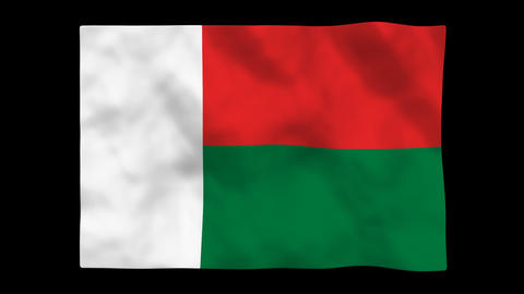 Flag A122 MDG Madagascar Animation