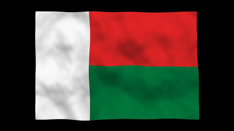 Flag A122 MDG Madagascar Stock Video Footage
