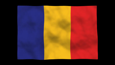 Flag A126 TCD Chad Stock Video Footage