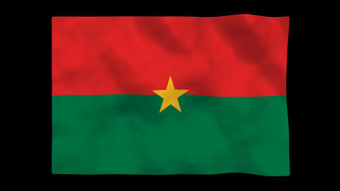 Flag A128 BFA Burkina Faso Stock Video Footage