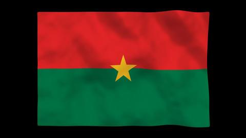 Flag A128 BFA Burkina Faso Animation