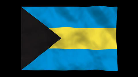 Flag A130 BHS Bahamas Animation