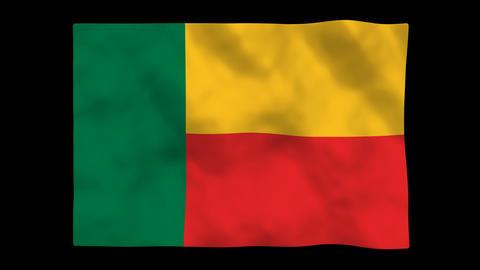 Flag A132 BEN Benin Stock Video Footage
