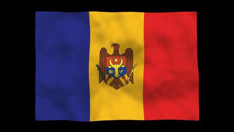 Flag A134 MDA Moldova Stock Video Footage