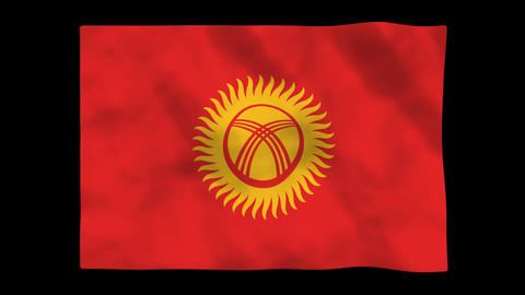 Flag A138 KGZ Kyrgyzst Animation