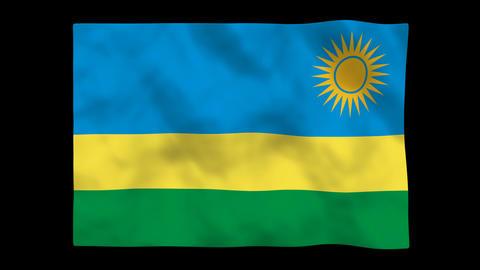 Flag A140 RWA Rwanda Stock Video Footage