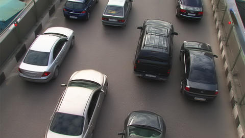 traffic on Moscow rush hour Stock Video Footage