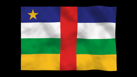 Flag A146 CAF Central African Republic stock footage