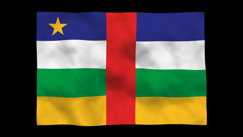 Flag A146 CAF Central African Republic Stock Video Footage