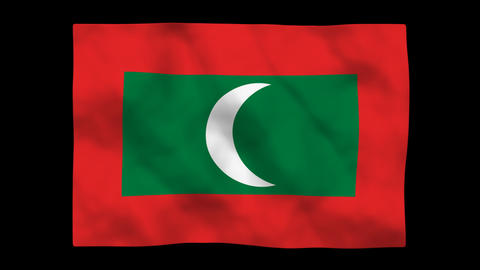 Flag A148 MDV Maldives Stock Video Footage