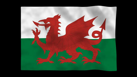 Flag A150 WAI Wales HD Stock Video Footage