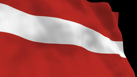 Flag B082 LVA Latvia Animation