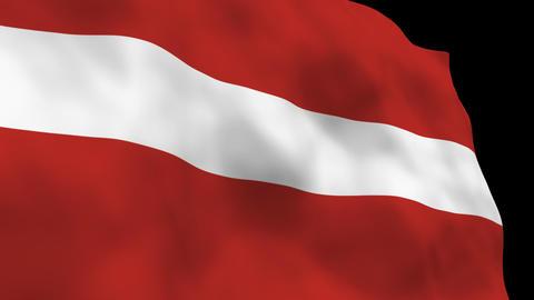 Flag B082 LVA Latvia Stock Video Footage