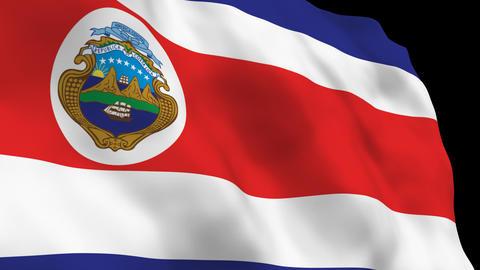 Flag B084 CRI Costa Rica Stock Video Footage