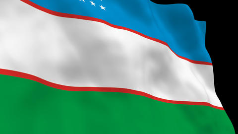 Flag B086 UZB Uzbekistan Animation