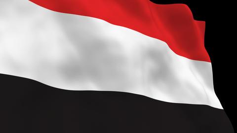 Flag B088 YEN Yemen Stock Video Footage