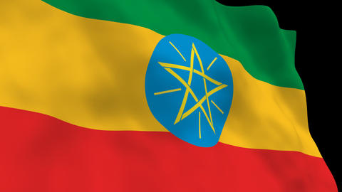 Flag B090 ETH Ethiopia Animation