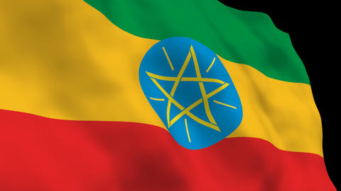 Flag B090 ETH Ethiopia Stock Video Footage