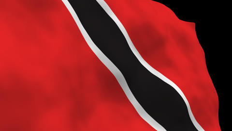 Flag B092 TTO Trinidad and Toba Stock Video Footage