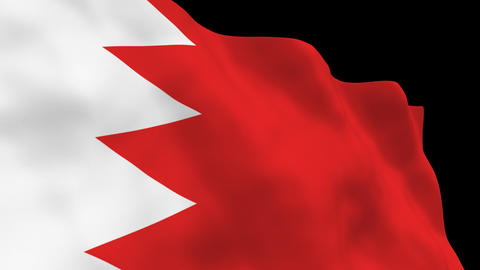 Flag B098 BHR Bahrain Animation