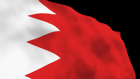 Flag B098 BHR Bahrain Stock Video Footage