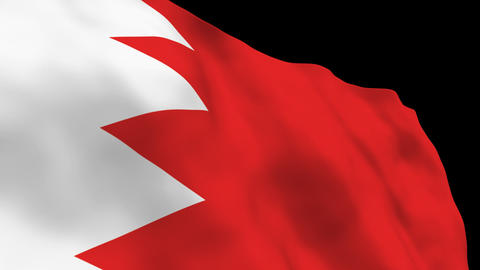Flag B098 BHR Bahrain Stock Video Footage