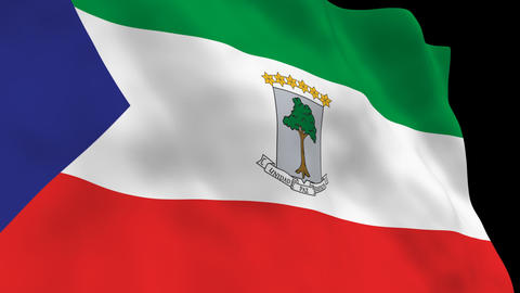 Flag B100 GNQ Equatorial Guinea Animation