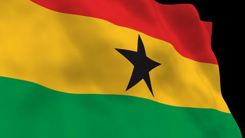 Flag B104 GHA Ghana Animation