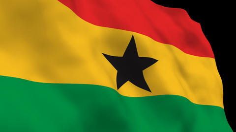 Flag B104 GHA Ghana Stock Video Footage
