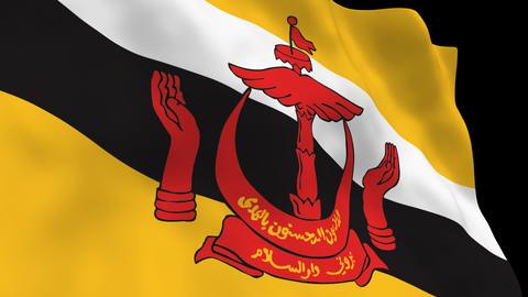 Flag B106 BRN Brunei Animation