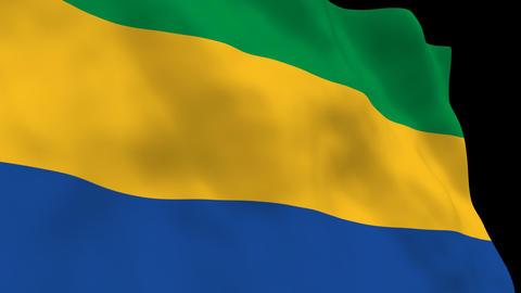 Flag B108 GAB Gabon Animation