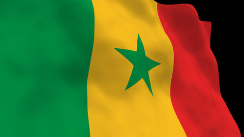 Flag B112 SEN Senegal Animation