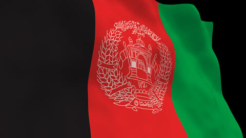 Flag B116 AFG Afghanistan Animation