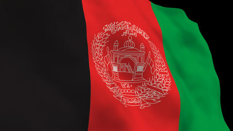 Flag B116 AFG Afghanistan Stock Video Footage