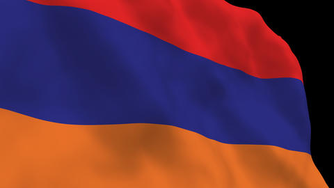 Flag B118 ARM Armenia Stock Video Footage
