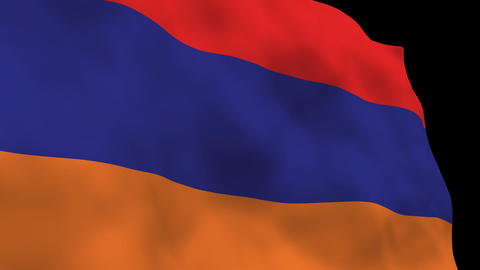 Flag B118 ARM Armenia Stock Video Footage