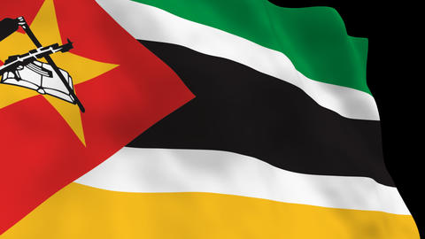Flag B120 MOZ Mozambique Animation