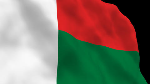 Flag B122 MDG Madagascar Stock Video Footage