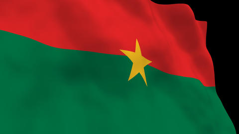 Flag B128 BFA Burkina Faso Animation